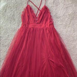 Vici Lace Tulle Maxi Dress